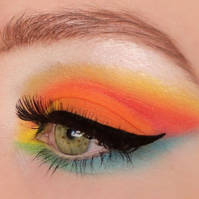 This look is fun and definitely quirky. Bold colors of Orange ...