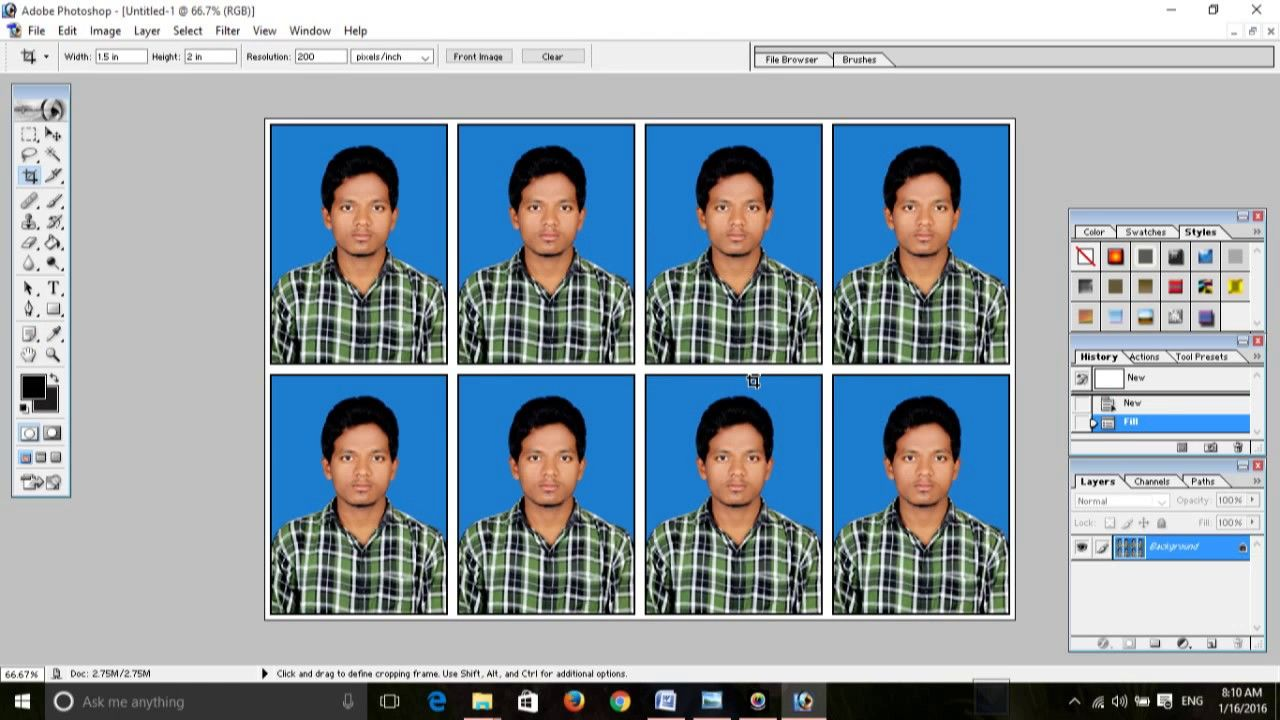 How To Create Passport Size Photo In Adobe Photoshop Photoshop Adobe Photo Photo