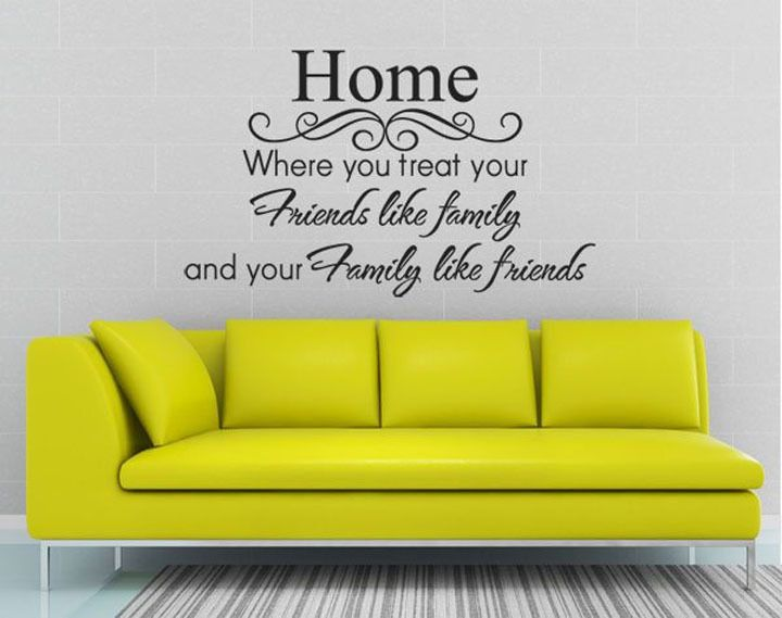 wall quotes sayinghome family like friendswall decor sticker letter vinyl - Home Decor Quotes