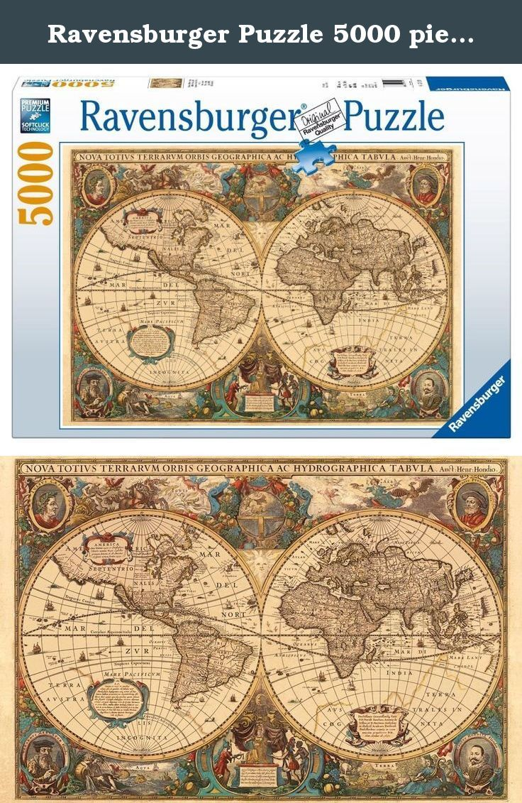 Ravensburger puzzle 5000 pieces old globe code 17411 antique ravensburger puzzle 5000 pieces old globe code 17411 antique world map puzzle gumiabroncs Images