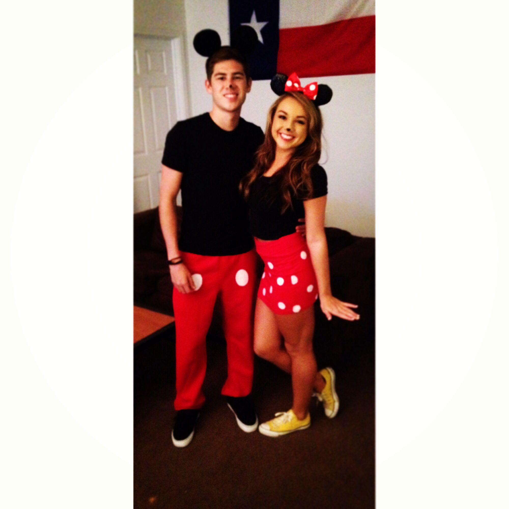 Halloween couples costume #mickey #minnie