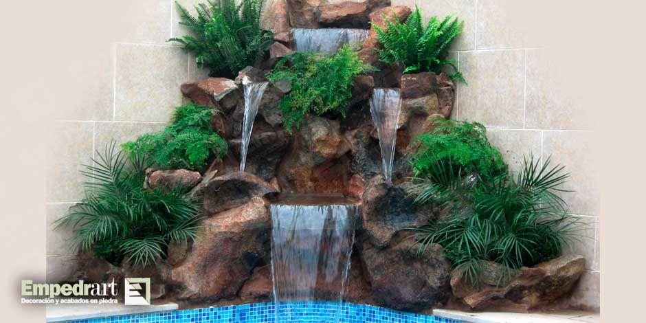 Como hacer una fuente con piedras de rio buscar con - Hacer un jardin ...