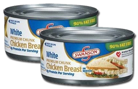 $0.50 off 2 Cans of Swanson Chunk Chicken Breast Coupon on http://hunt4freebies.com/coupons