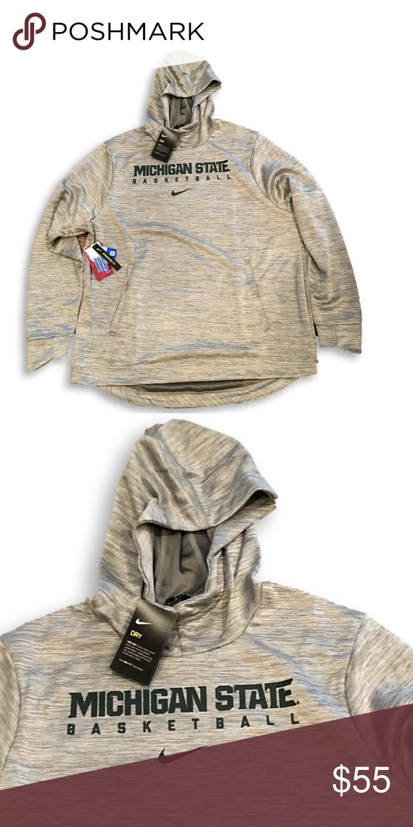 NWT Michigan State Spartans Nike Hooded Sweatshirt