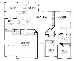 Ranch House Plans 2200 Sq Ft With 3 Car Garage Bing Images House Plans One Story Garage House Plans Basement House Plans