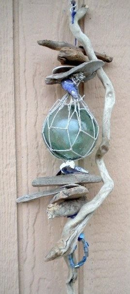 Decorative Glass Fish Foter Driftwood Crafts