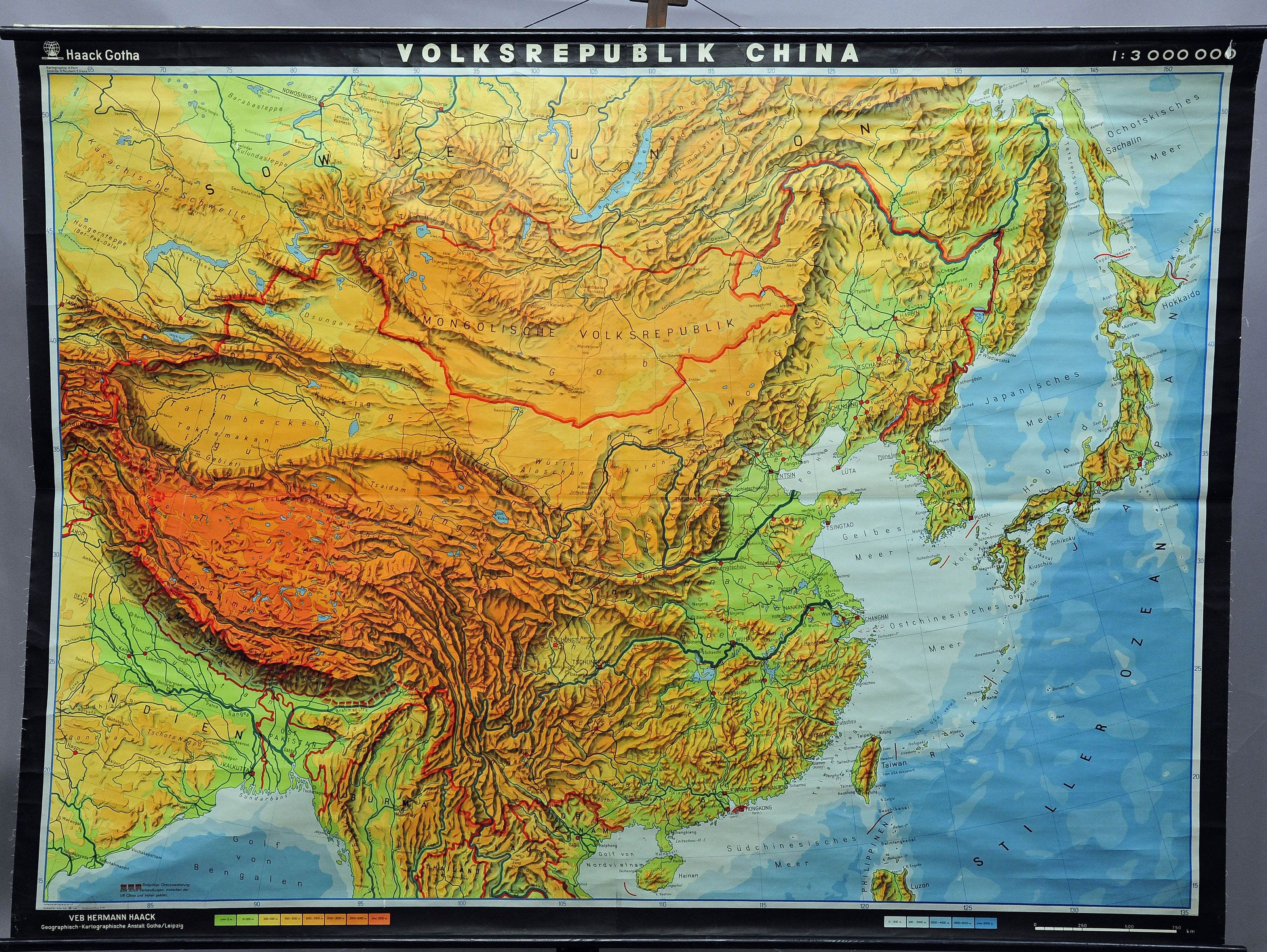 Old vintage pull down wall chart map china asian decoration colorful asian wall chart buy online httpetsy2tl9ebz gumiabroncs Image collections