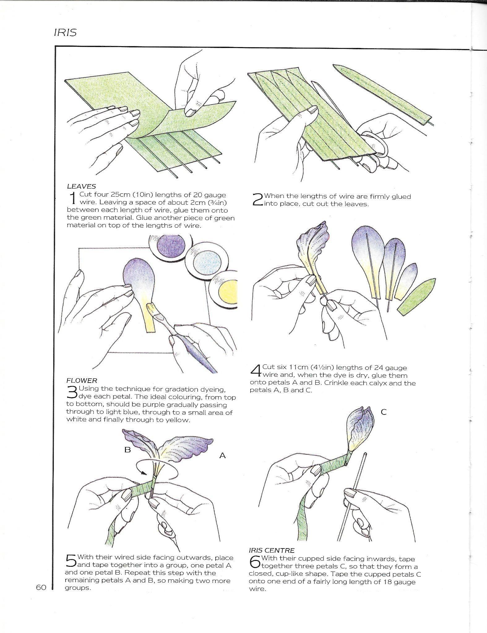 Iris 03 Craftidea Org Handmade Flowers Paper Paper Flower Patterns Flower Template