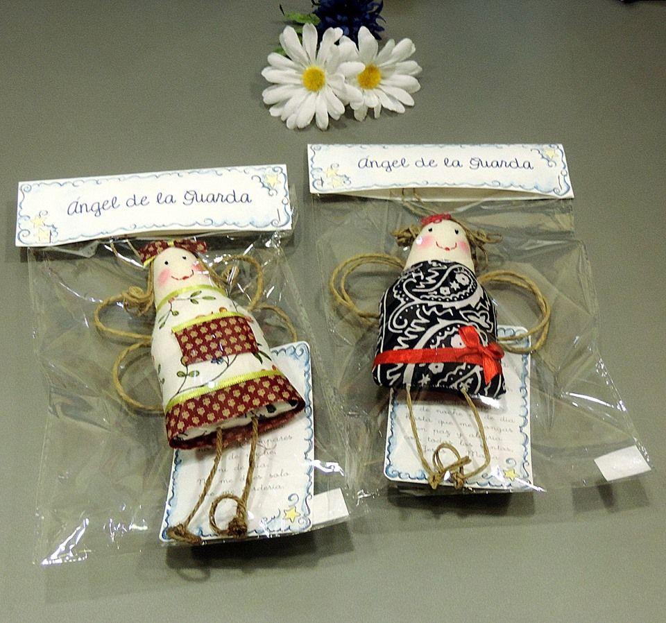 Preciosos ángeles de la guarda artesanales con oració. Idead para decorar la habitación del peque