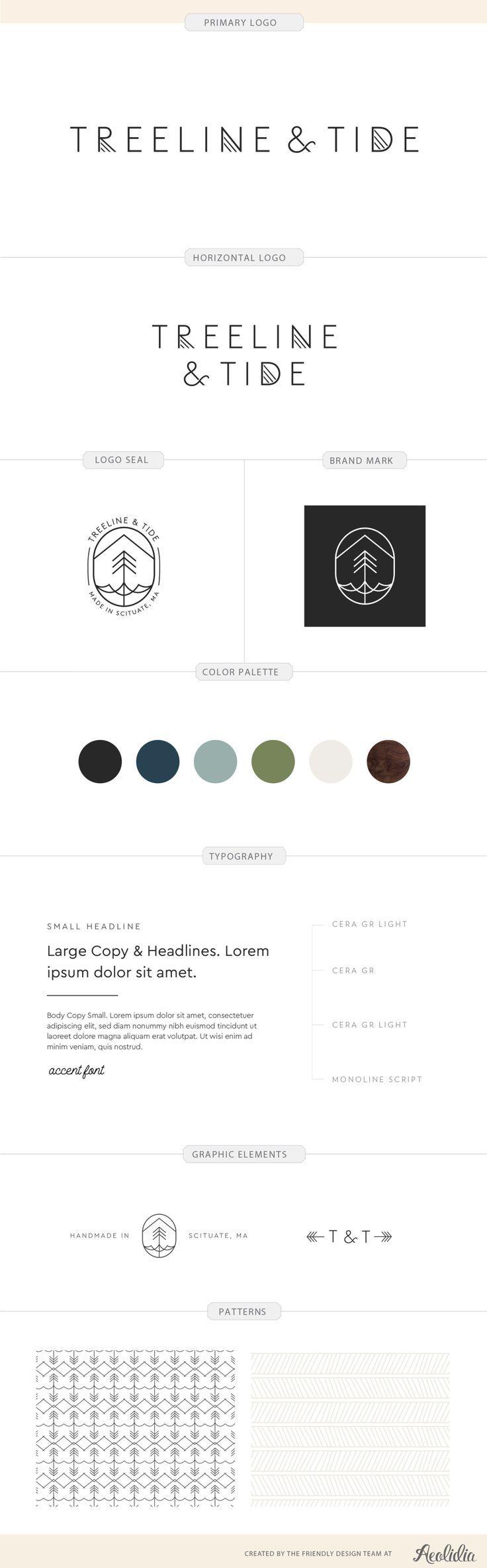 Treeline & Tide Brand identity, Branding design, Brand