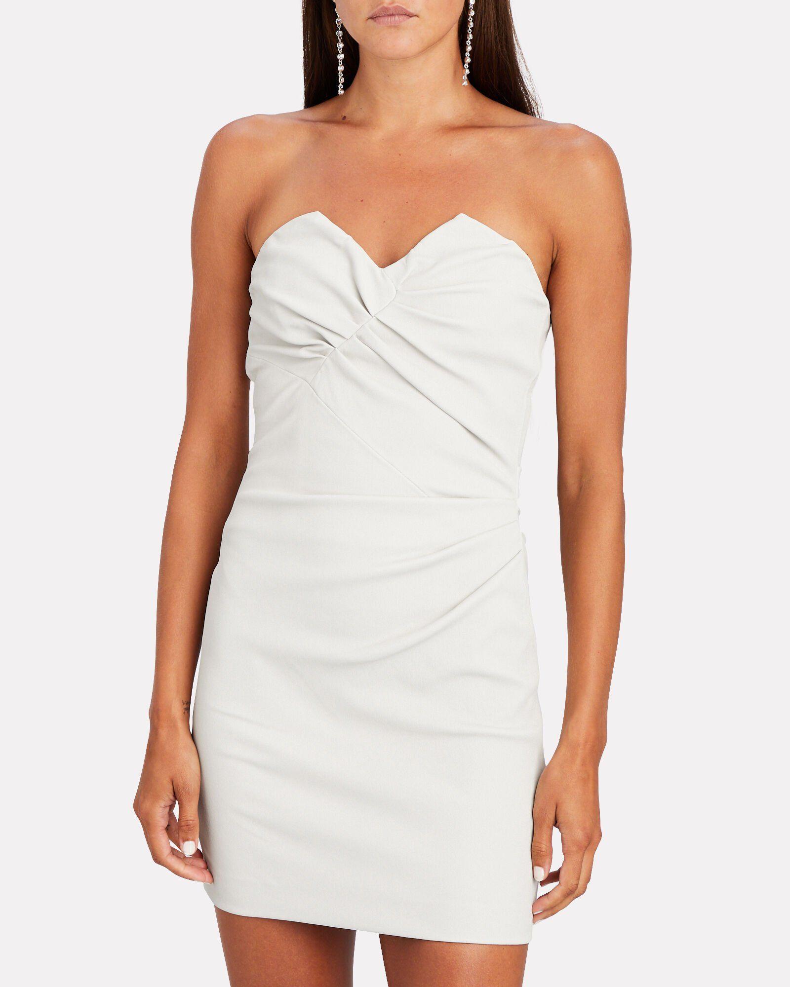 Valana Leather Strapless Mini Dress Strapless Mini Dress Dresses Designer Mini Dresses [ 2000 x 1600 Pixel ]