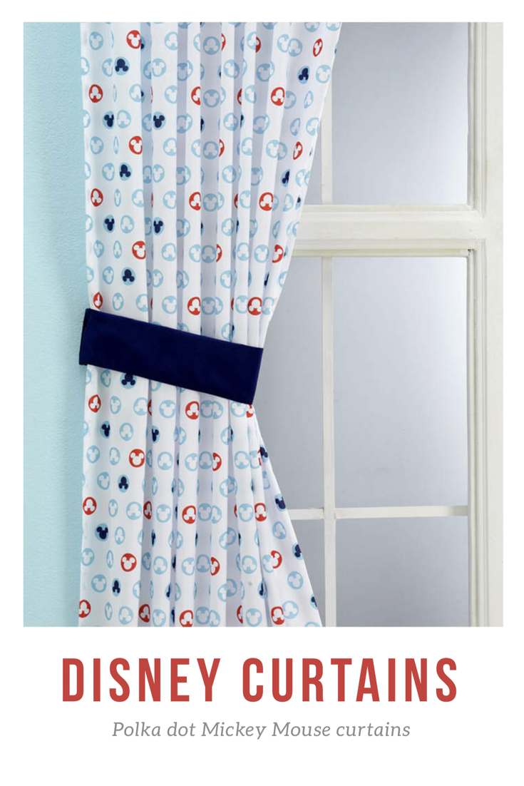 Polka Dot Mickey Mouse Curtains