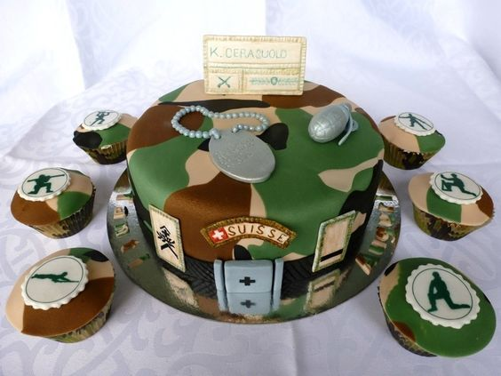 Cool Army Ball Cake Designs Fashion Dresses Personalised Birthday Cards Paralily Jamesorg