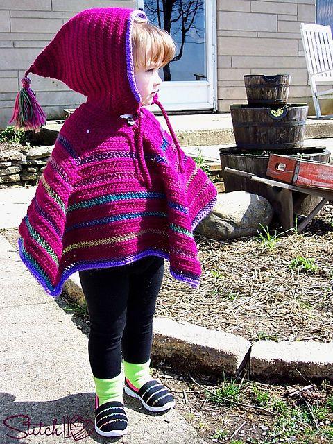 Ravelry: Hooded Poncho pattern by Corina Gray | Crochet