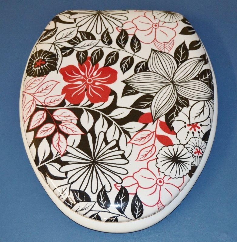Marvelous Redandblackbathroom New Pattern Red And Black Floral Machost Co Dining Chair Design Ideas Machostcouk