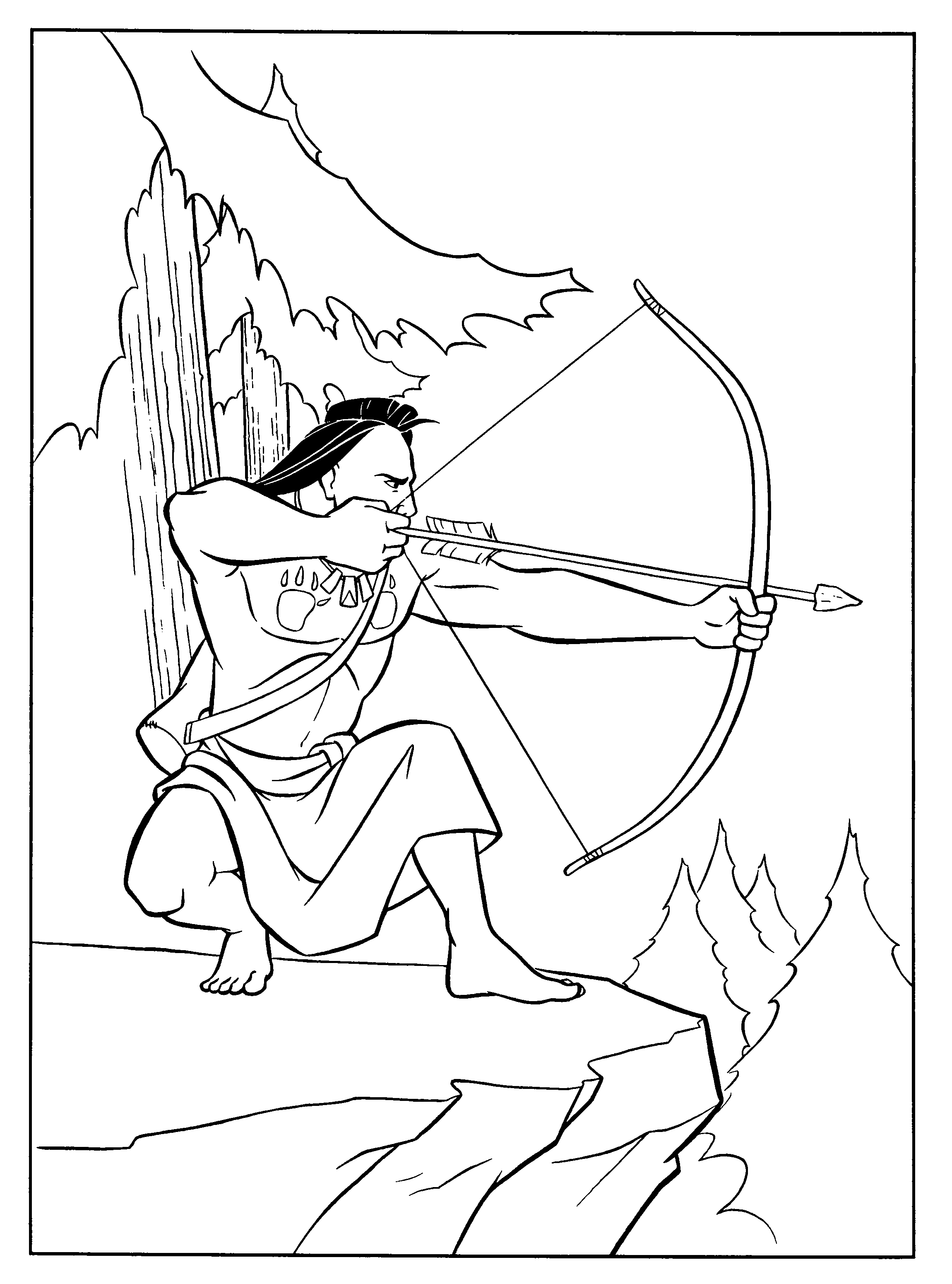pocahontas coloring pages - Google-søgning | Indian Stuff ...
