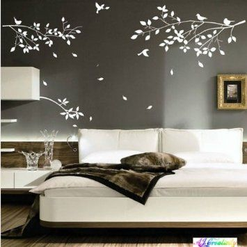 Meco Tm Diy Bird Tree Branches Branches Wall Stickers Decal