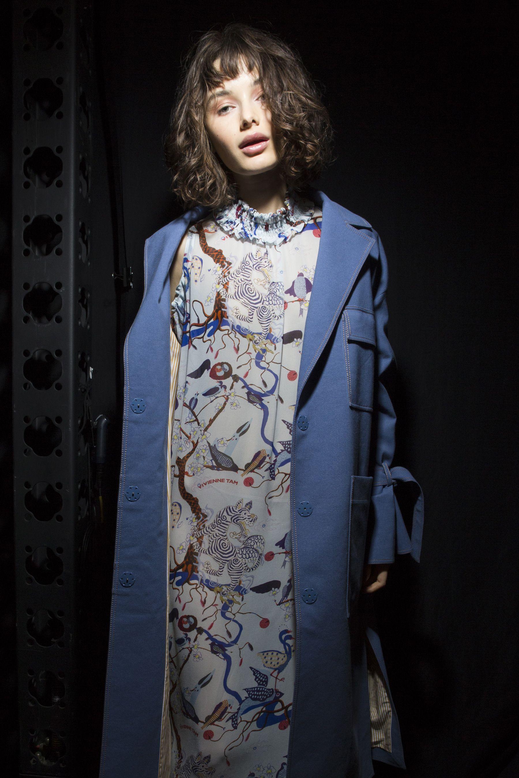 51b9c5fc2 Vivienne Tam Spring 2018 Fashion Show Backstage | Designers ...