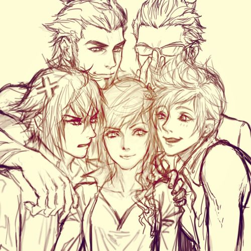 Lightning X Noctis Final Fantasy Characters