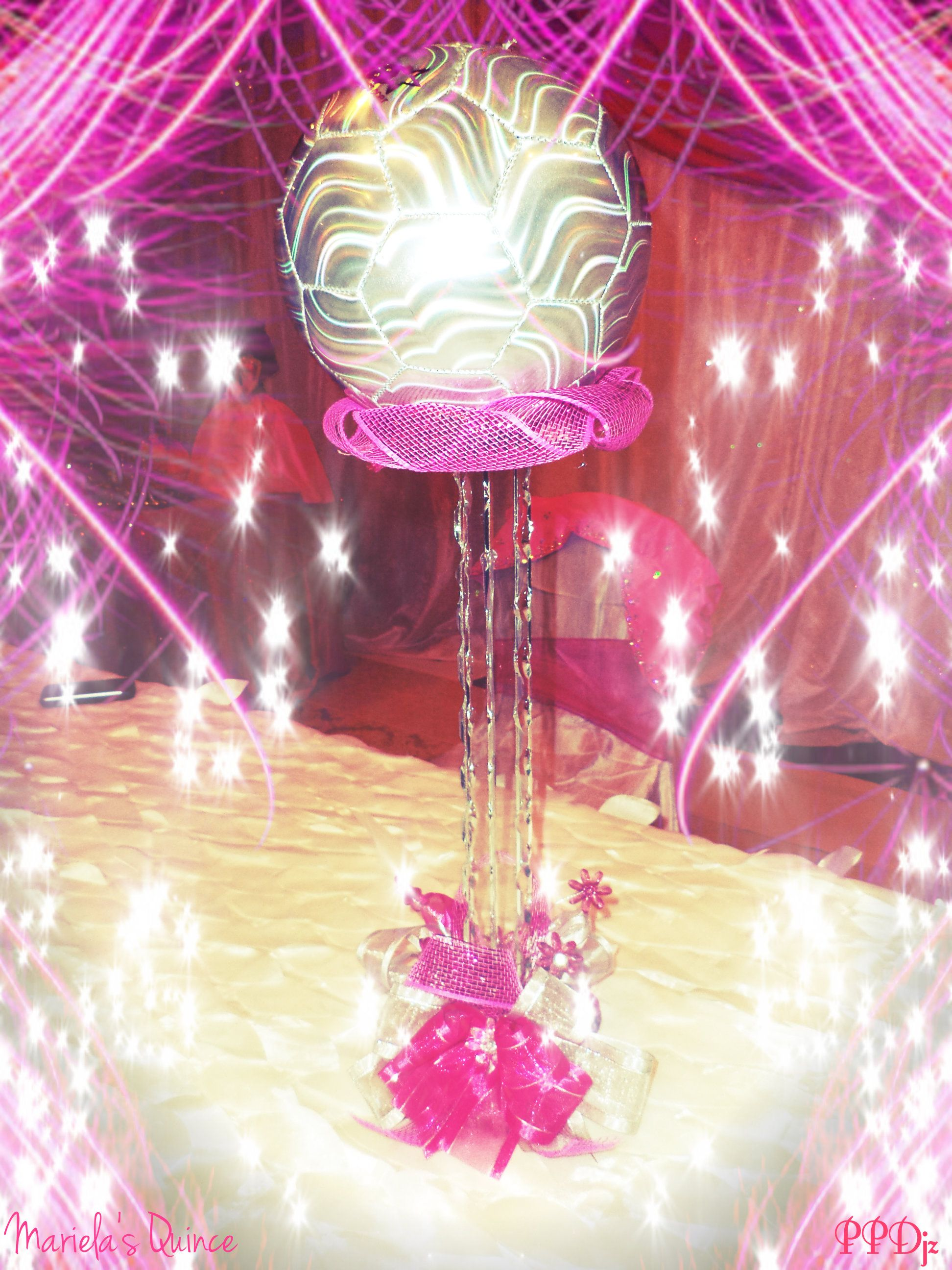 Quinceanera soccer theme table decor quince pinterest for Quinceanera decorations
