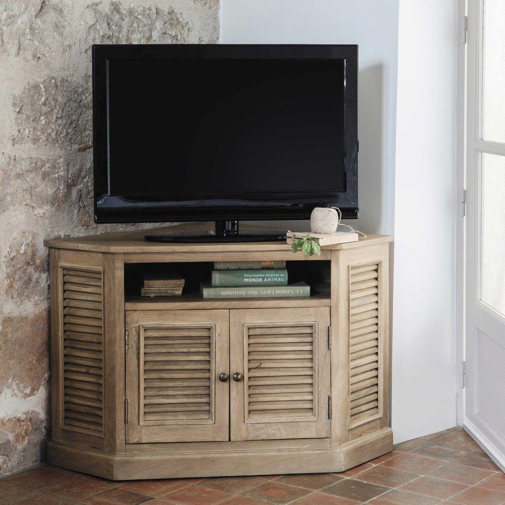 Meuble Haut D Angle Pour Tv meuble tv d'angle en  - persiennes | mobilier de salon