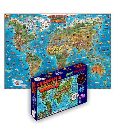 Take a look at this Children's World Map Puzzle by GeoToys on #zulily today!