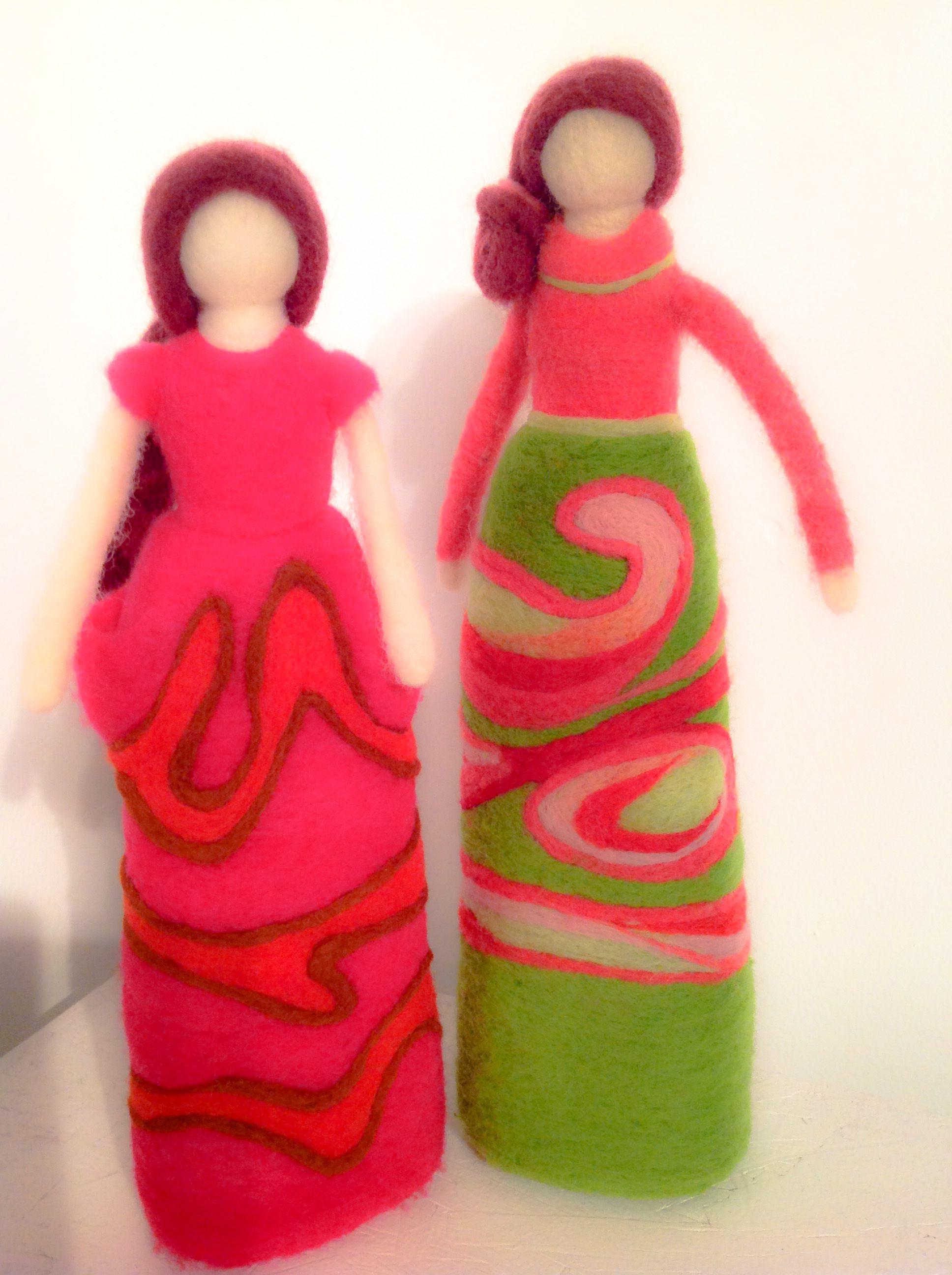 Felt dolls by Carolina Von Bennewitz