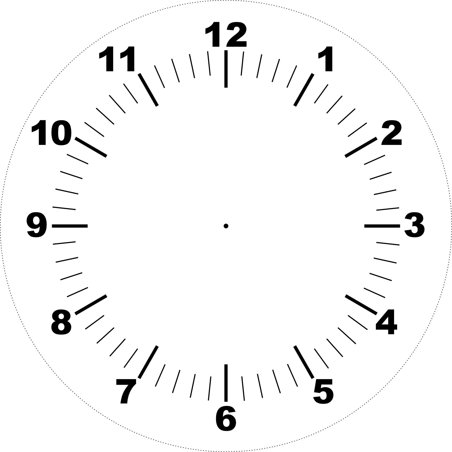 clock face template with hands