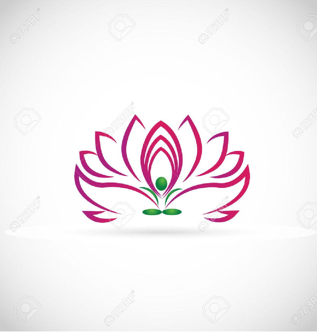 Yoga Man Lotus Flower Web Symbol Icon Vector Image Royalty Free Cliparts Vec