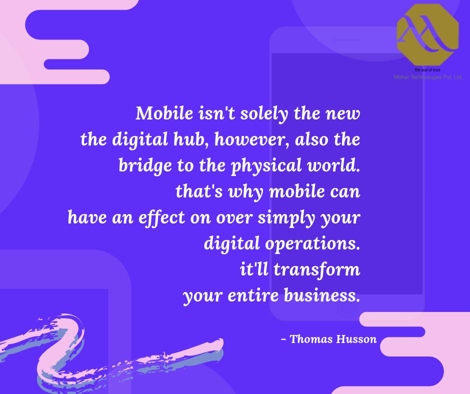 Mobile Is The New Digital Hub App development, Mobile
