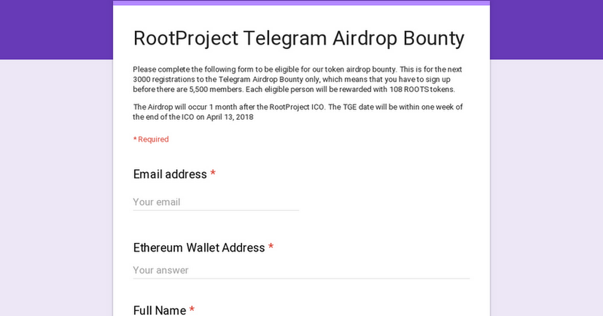 root project ico