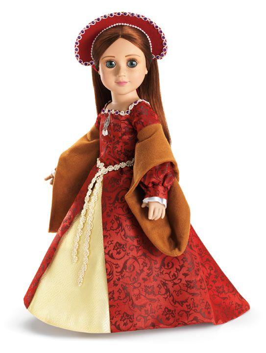 Image result for RED FLORAL BROCADE doll DRESS