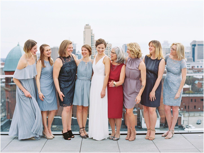 Wedding dresses richmond va  Laid back wedding at Quirk Hotel  rooftop wedding in Richmond VA