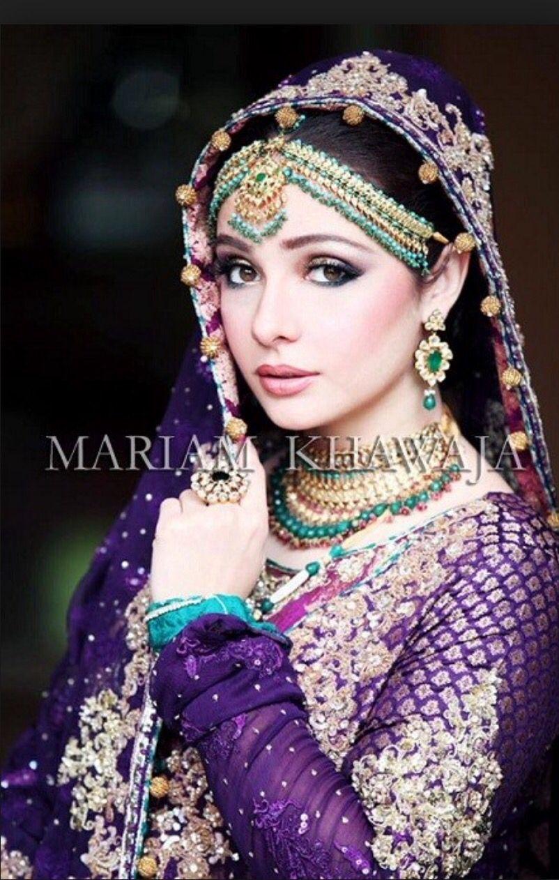 Purple And Green Pakistani Bridal Dresses Pakistani Bridal