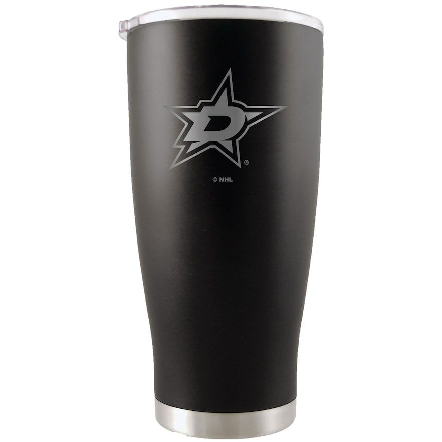 Dallas Stars 20oz. Etched Team Logo Tumbler - Black