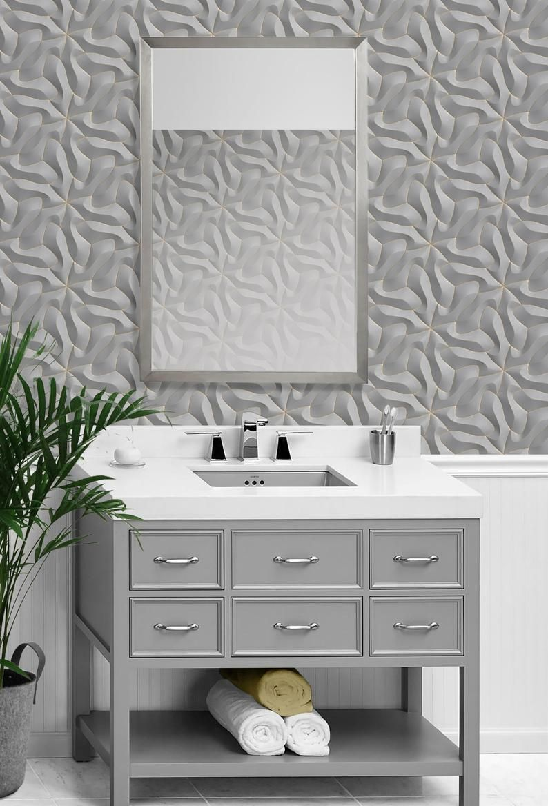 Repositionable Removable Wallpaper Peel Stick Wallpaper Etsy Peel And Stick Wallpaper Removable Wallpaper Modern Fabric
