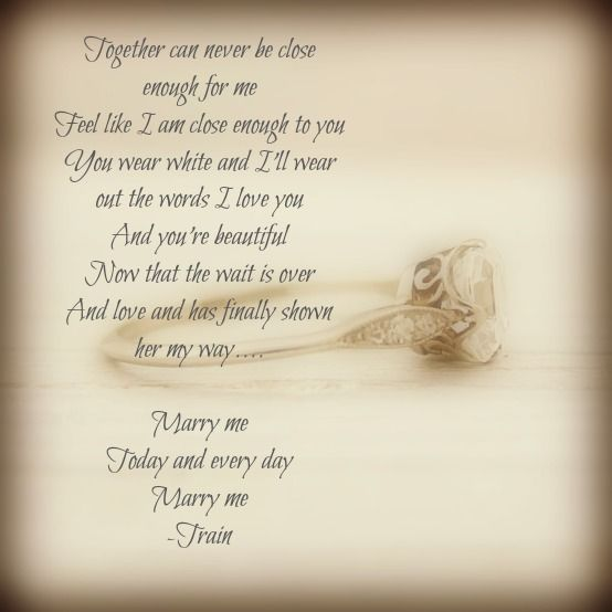 Marry Me Train Sand Ceremony Song
