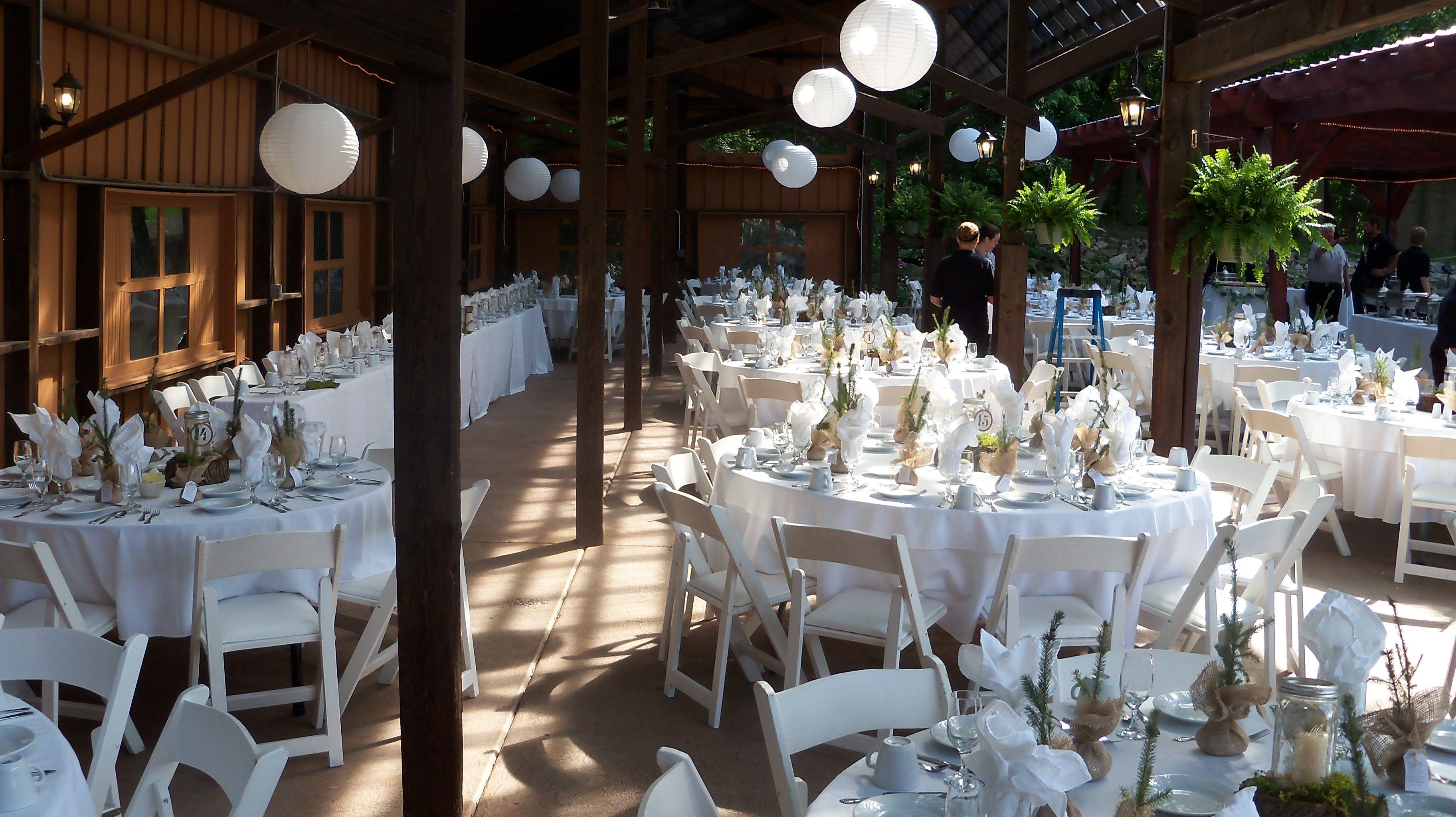 Niagara Falls Outdoor Wedding Setup At Lockport Canalside
