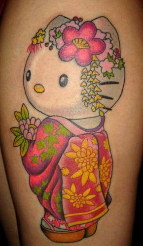 035d7fc23 Hello Kitty #Tattoo | I Just Like It :-) ! | Hello kitty tattoos ...