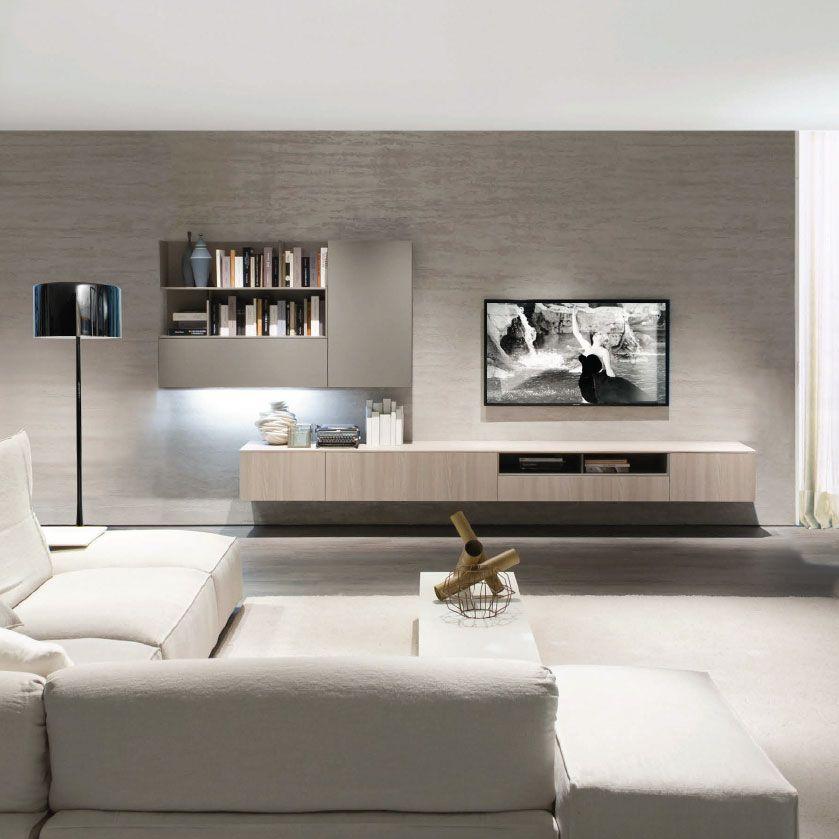 Mueble Tv Moderno De Olmo De Melamina Z409 Zalf Salotti Minimalisti Arredamento Salotto Arredamento Casa