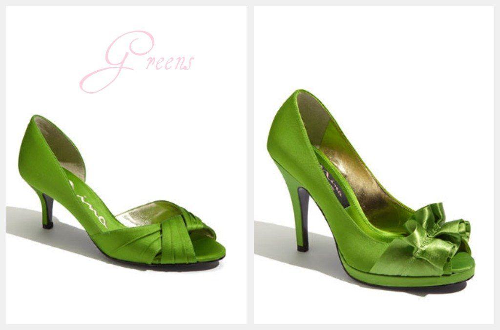 Green Wedding High Heels