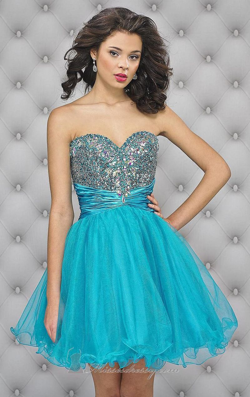 Cute 8th Grade Graduation Dresses 2014 Free Shipping Short Blue ...