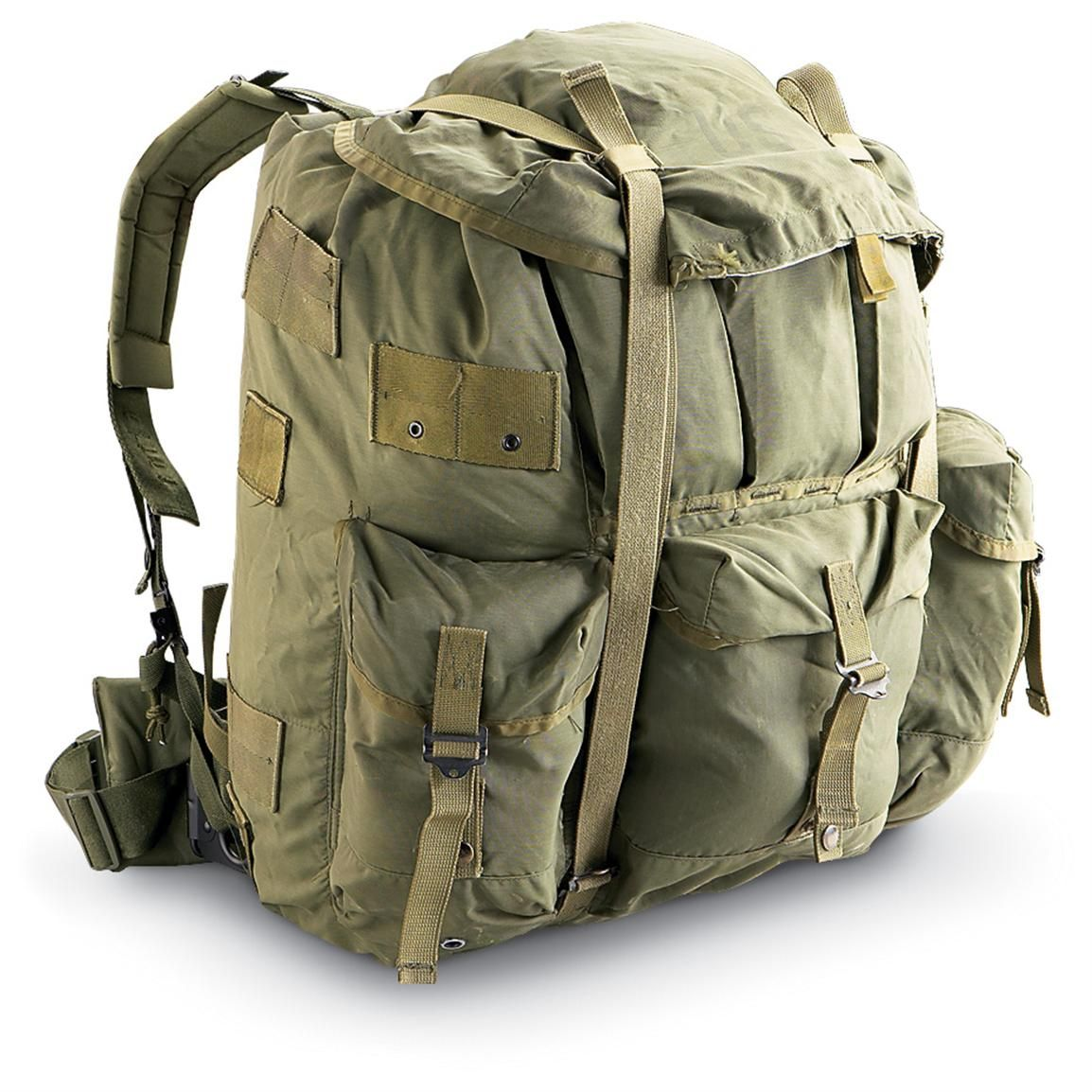 used us military surplus large alice pack with metal frame