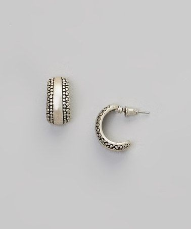 Another great find on #zulily! White Band Hoop Earrings #zulilyfinds