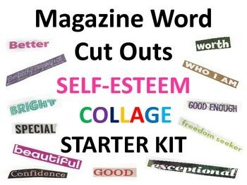 This collage starter kit includes over 200 words that provoke inspiration towards oneself and their future. Use the words to create a self-esteem collage. After printing and cutting out the words, have students choose words with purpose and meaning. The words can represent how they view themselves, or how they want to see themselves in their future.