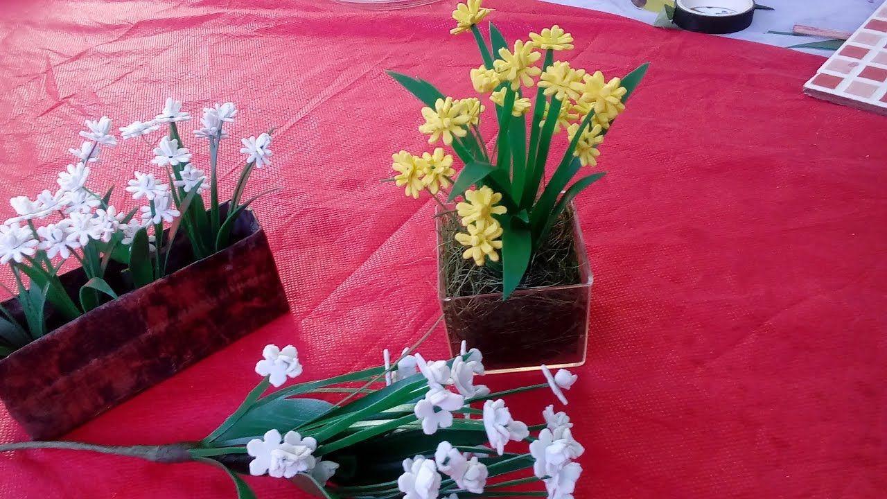 Florzinhas Com Sobras De Eva Para Complemento De Arranjos Florais