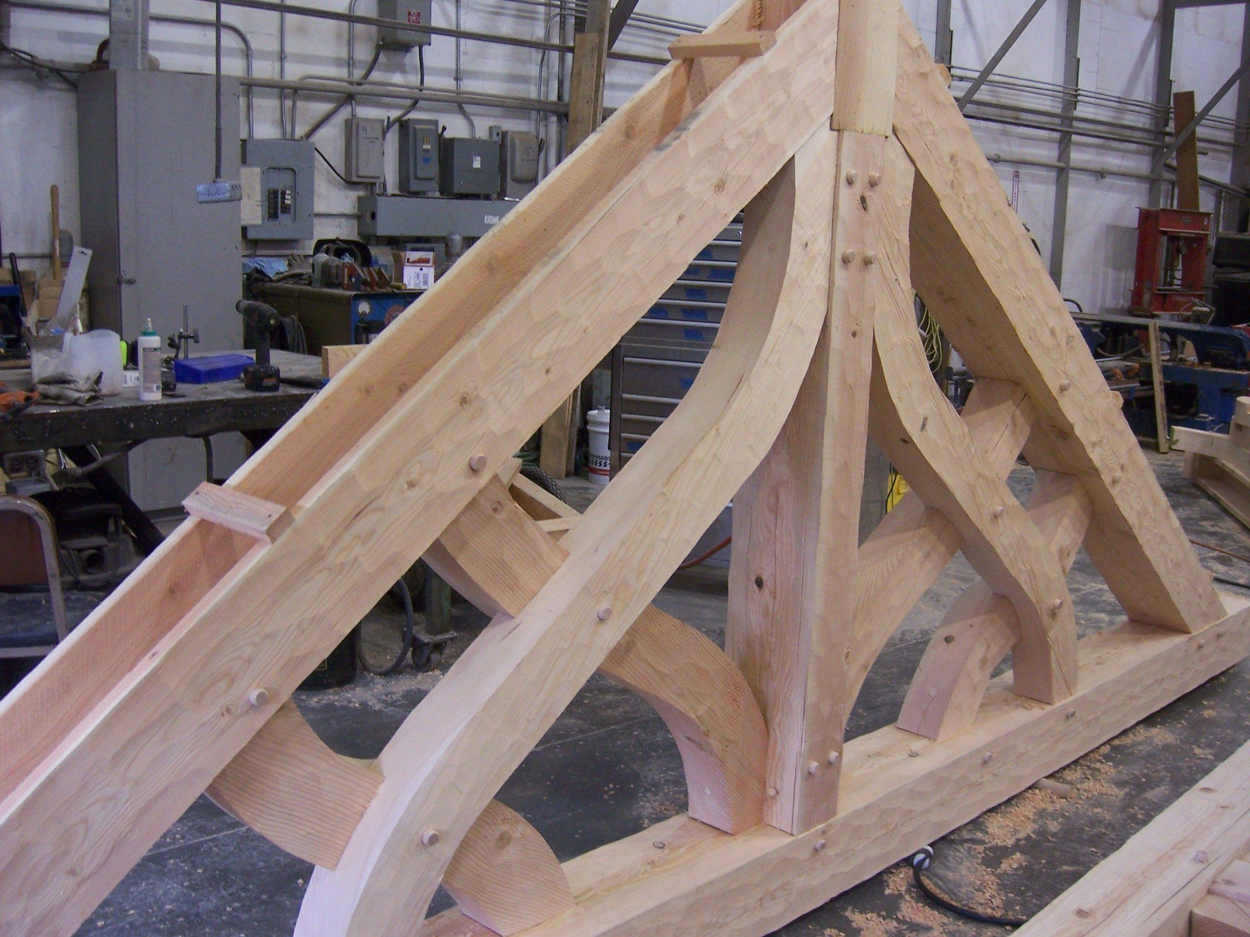 Timber Trusses And Beams ~ Decorative cedar trusses disney world gaston s tavern