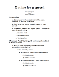 how to do a demonstration speech outline