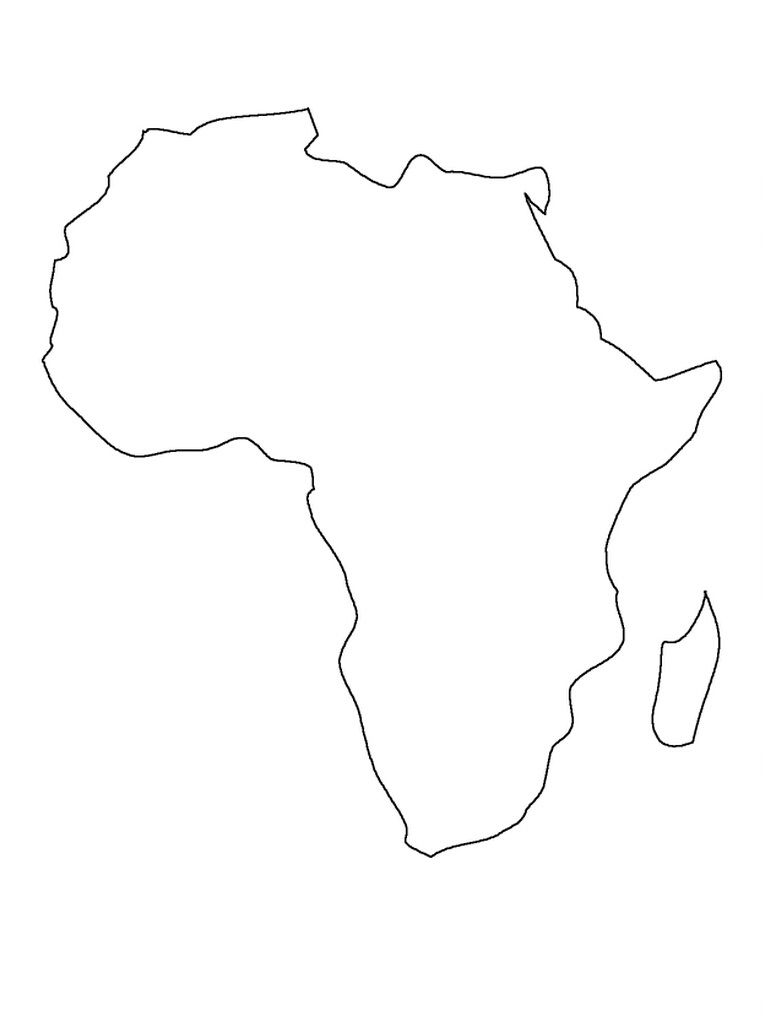 Worksheets Africa Map Outline printable map of africa preschool pinterest see best photos outline and white inspiring template images so