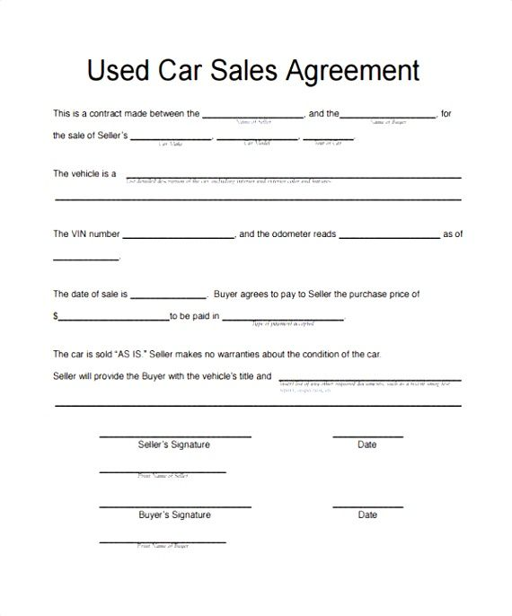 motor vehicle sale agreement template awesome car sales News to Go
